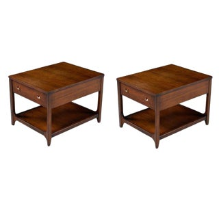 Broyhill Brasilia Chairside Tables 6151-09 Pair End Tables Restored