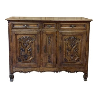 19th Century Country French Louis XIV Buffet For Sale
