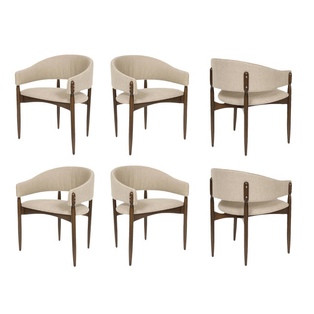 Customizable Set of Six Enroth Dining Chairs For Sale