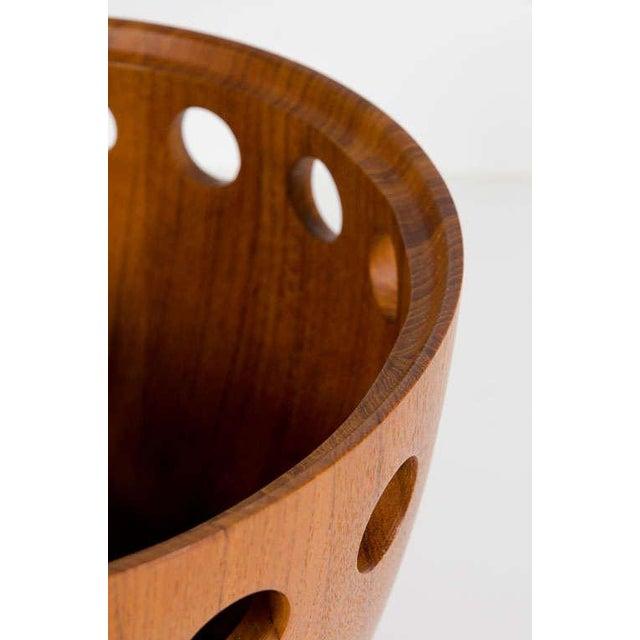 Tan Jens Quistgaard Danish Modern Staved Teak Fruit Bowl For Sale - Image 8 of 8