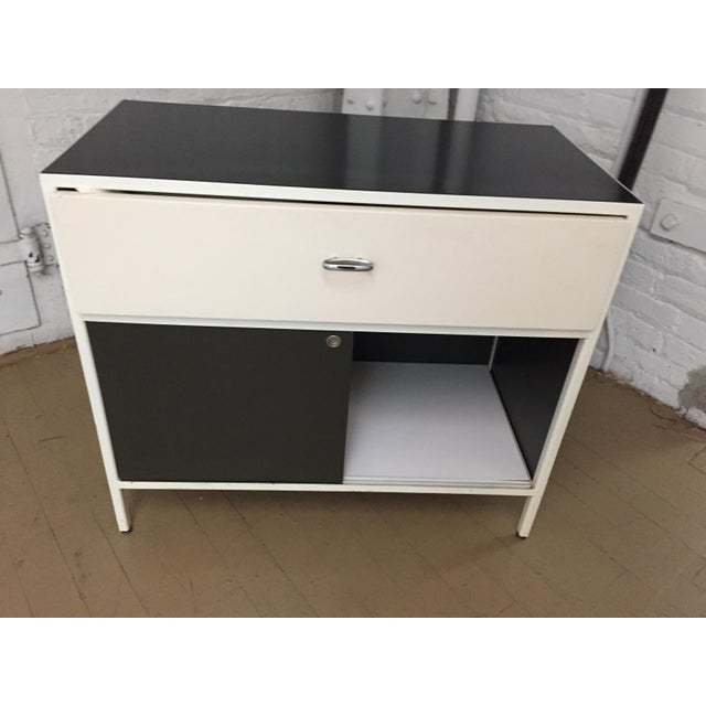 Authentic George Nelson for Herman Miller Steelframe Nightstand or Side Table For Sale In Chicago - Image 6 of 11