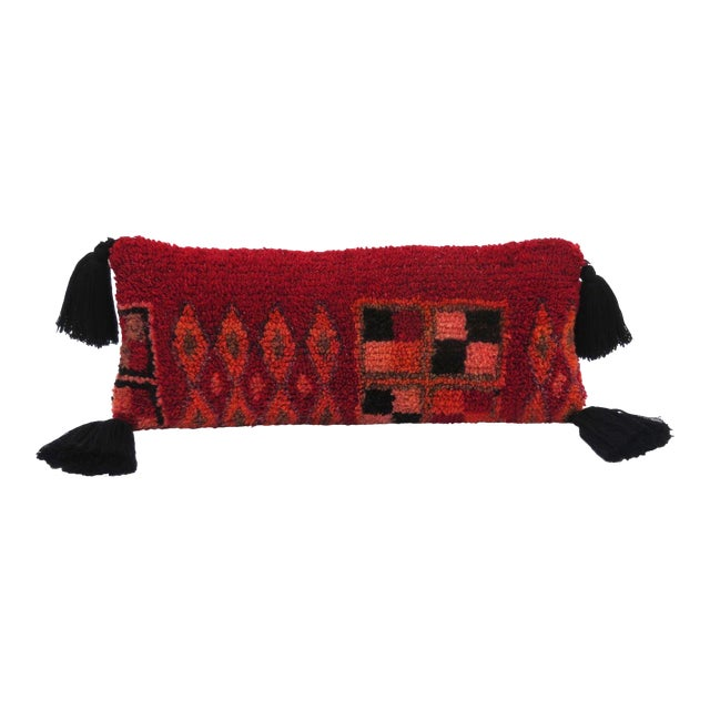 Vintage Moroccan Rug Throw Pillow For Sale