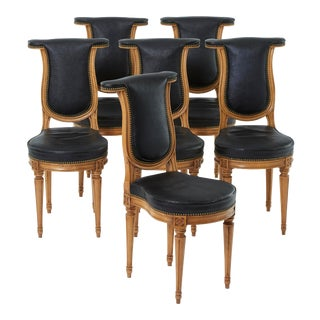 Early 20th Century Antique Swedish Study Chairs - Set of 6 For Sale