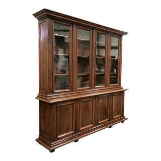19th Century French Napoleon III Period Walnut Bibliotheque or Bookcase For Sale