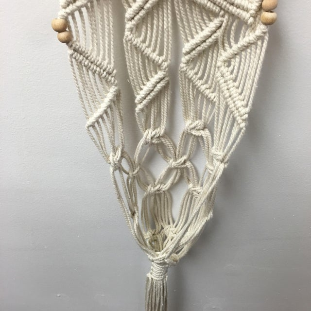 Handmade Macrame on Natural Branch - Image 7 of 8