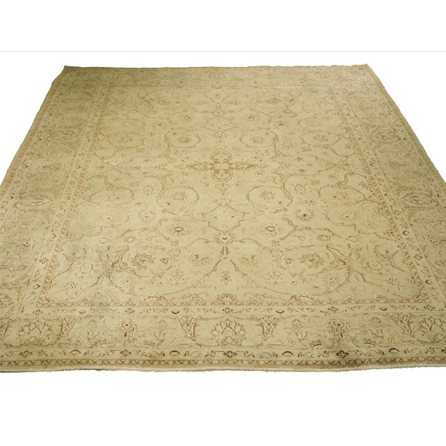 1960s Vintage Persian Kerman Floral Design Rug - 9′10″ × 12′6″ For Sale In Dallas - Image 6 of 12