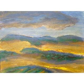 """Robert Vala """"Desert Mountain Landscape"""" Oil Painting For Sale"""