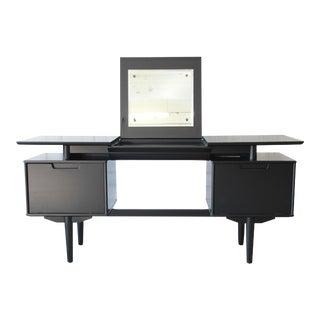 Milo Baughman for Drexel Mid-Century Modern Ebonized Floating Top Vanity Desk