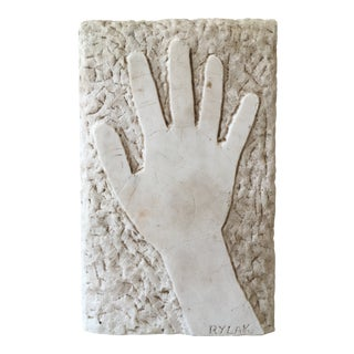 Mid-Century Italian Hand Carved Marble Plaque For Sale