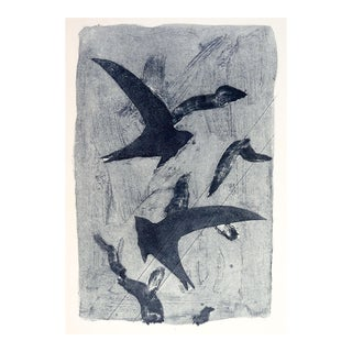 Abstract Birds Etching Print For Sale