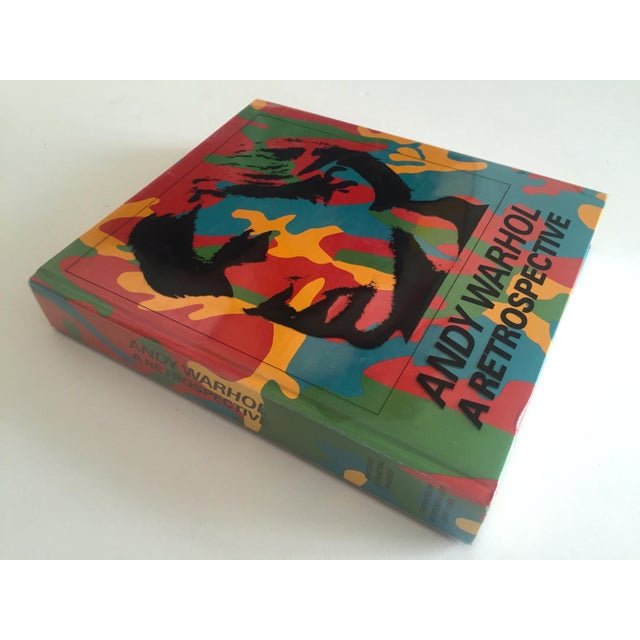"This rare first edition vintage 1989 "" Andy Warhol A Retrospective "" MOMA exhibition hardcover book with special printed..."