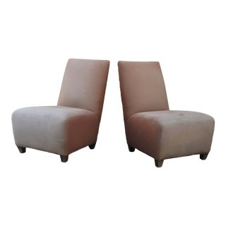 1960s Vintage Slipper Chairs- A Pair For Sale