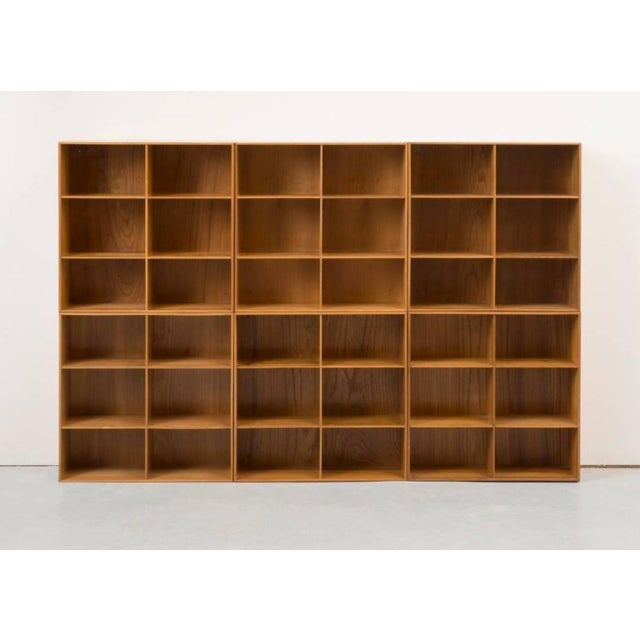 Set of Modular Elm Bookcases by Mogens Koch For Sale - Image 4 of 8