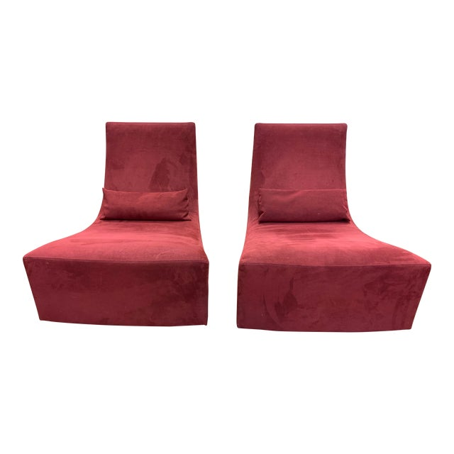 Ligne Roset Neo Fireside Rocking Chairs- a Pair For Sale