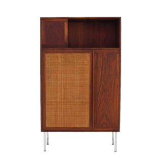 Walnut Cabinet with Cane Door For Sale