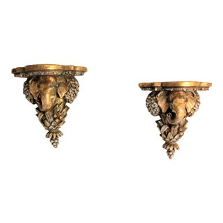 Tommy Bahama Style Decorative Corbels - a Pair For Sale