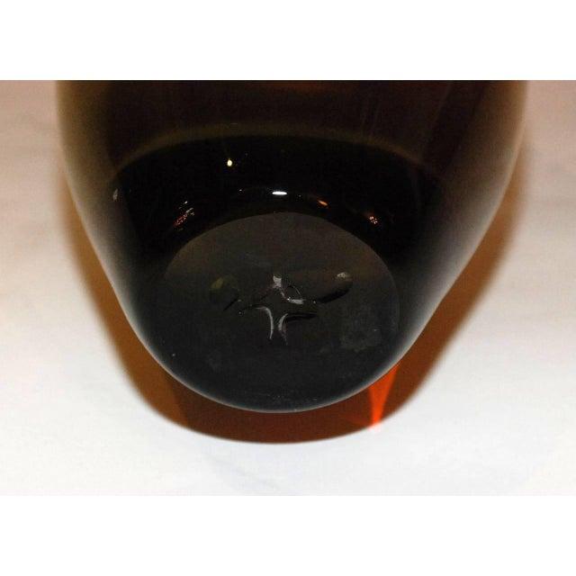 Seguso Seguso Murano Glass Vase For Sale - Image 4 of 5