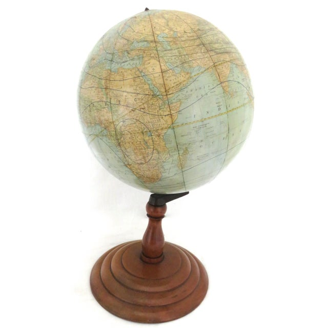 Traditional Antique Rand McNally Twelve Inch Terrestrial Globe - Atlas For Sale - Image 3 of 13