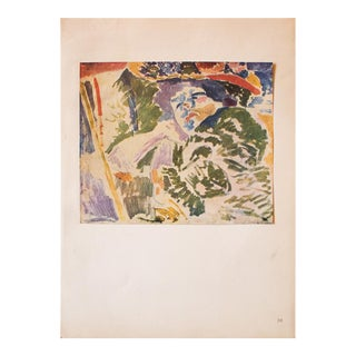 "1948 André Derain, Original Period Lithograph ""The Woman at the Transatlantique"" For Sale"