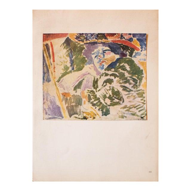 """1948 André Derain, Original Period Lithograph """"The Woman at the Transatlantique"""" For Sale"""
