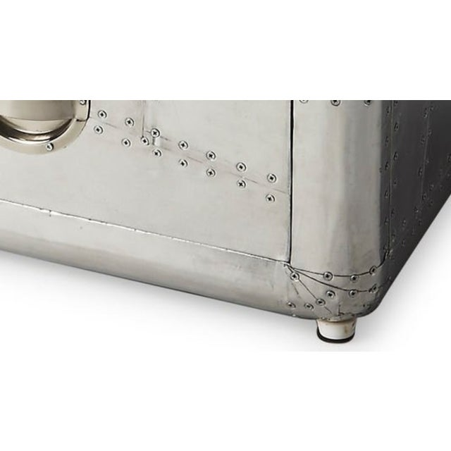 Aluminum Aviator Metal Side Table - Image 2 of 5