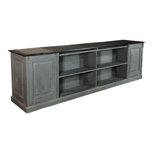 19th Century Painted Store Counter For Sale