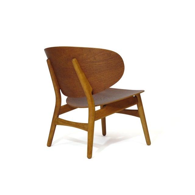 Mid 20th Century Hans Wegner Teak Shell Chair Fh-1936 For Sale - Image 5 of 12