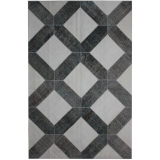 Aara Rugs Inc. Hand Knotted Patchwork Rug - 6′6″ × 9′11″ For Sale
