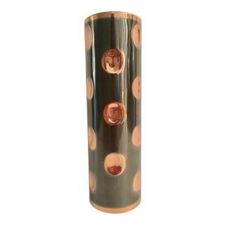 Hammered & Tinted Copper Vase