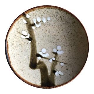 Vintage Japanese Mashiko Art Pottery Dinner Plate 1970's For Sale