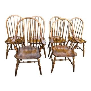 Vintage Ethan Allen Hoop Back Windsor Style Chairs - Set of 6 For Sale
