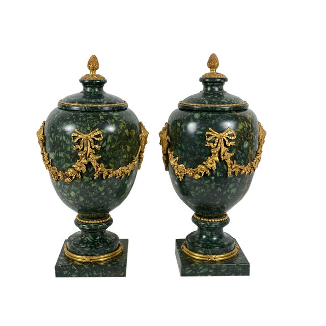 Italian Early 18th Century Italian Porphyry Vases With Bronze Dore Mounts - a Pair For Sale - Image 3 of 13
