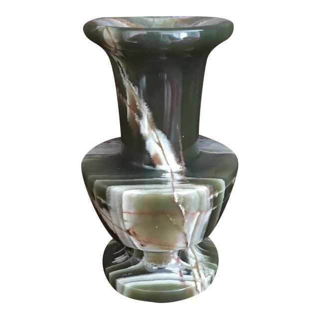 Green Malachite Stone Vase - Image 1 of 5