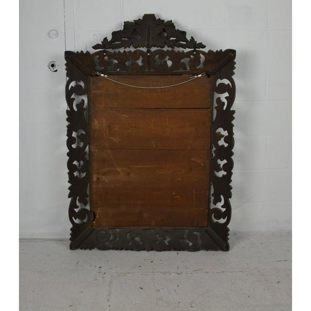 Early 19th Century 19th Century Carved Oak Wall Mirror For Sale - Image 5 of 6