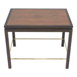 Edward Wormley for Dunbar Mahogany and Brass End Table For Sale