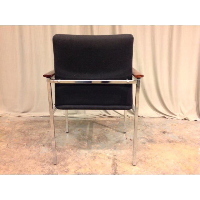 Mid 20th Century French Mid-Century Arm Chairs - Set of 6 For Sale - Image 5 of 8