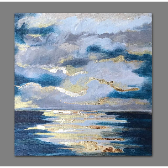 'At Sea' Original Abstract Landscape Painting by Linnea Heide For Sale - Image 4 of 8