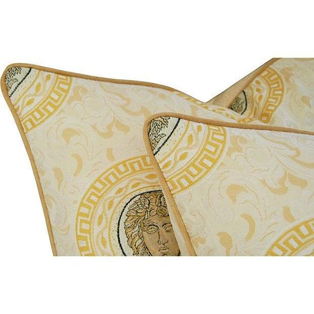 Custom Italian Versace-Style Medusa Pillows - Pair - Image 4 of 9