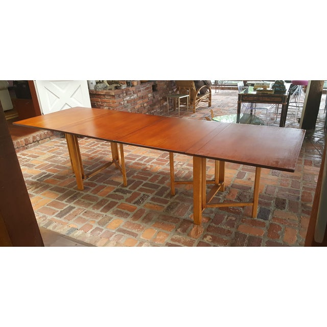 """This is the original version made in 1959. Marked / stamped """"Bruno Mathsson Firma Karl Mathsson 1959"""". Teak top, beech..."""