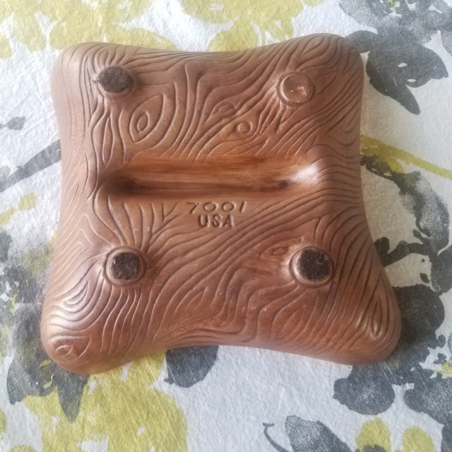Orange Sequoia Ware Vintage Ceramic Ashtray For Sale - Image 8 of 10