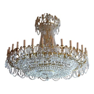 Antique Crystal Ballroom Chandelier For Sale