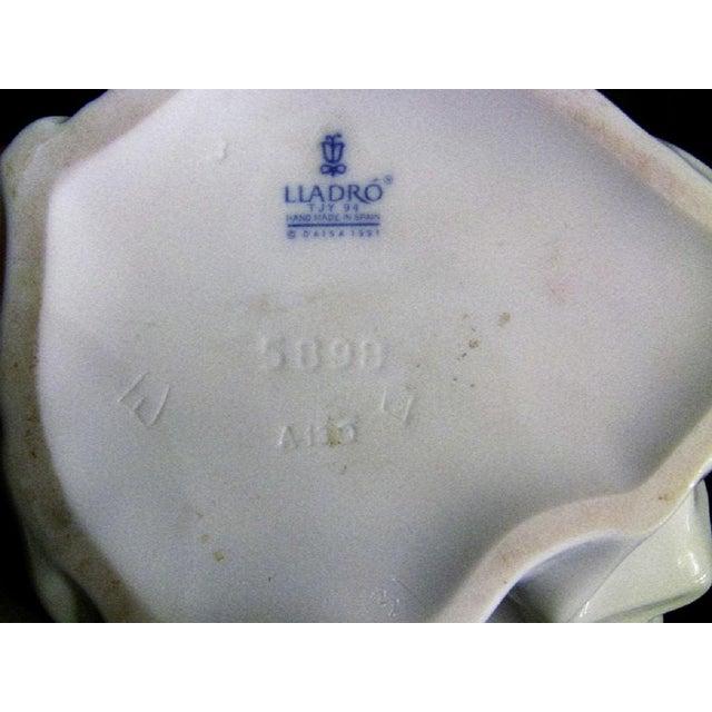 Blue Lladro Spanish Porcelain Figurine of Spring Splendor (Retired) For Sale - Image 8 of 13