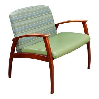 Adrain Pearsall Mid Century Modern Danish Walnut Lounge Arm Chair Loveseat For Sale