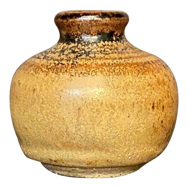 Vintage Mid Century Handmade Miniature Pottery Bud Vase For Sale