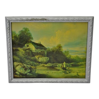 Vintage Framed Landscape Print by Muller For Sale
