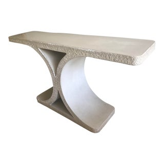 j.m.f. For Karl Springer Poured Concrete Console