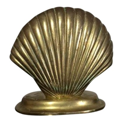 Vintage Brass Sea Shell Night Light For Sale
