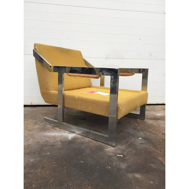 Mid-Century Chrome Carson Lounge Chair For Sale - Image 9 of 9