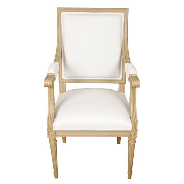 Set of Ten Louis XVI Style Dining Chairs For Sale - Image 4 of 5