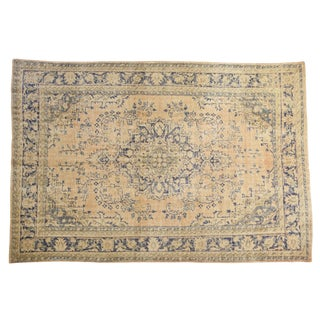 "Vintage Distressed Oushak Carpet - 7'9"" X 11'4"" For Sale"